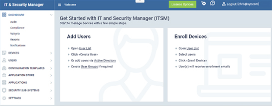 ITSM Software from Comodo | IT and Security Manager